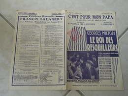 C'est Pour Mon Papa, Film Le Roi Des Resquilleurs-(Paroles R. Pujol & CH.L. Pothier)-(Musique C. Oberfeld)Partition 1930 - Compositeurs De Musique De Film