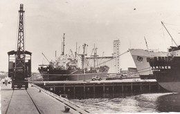 "Cpsm 9X14 . PEROU . CALLAO. Terminal Maritimo (3 Bateaux Dans  Port : ""Rio Cuayas "" -""Romulus "" & "" Mariner Montrovia"" - Pérou"