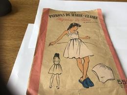 Les Patrons De Marie-Claire élégance De Paris Coupe Et Assemblage Combinaison Et Slip - Patterns