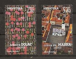 CROATIA 2017,TURISMUS,DOLAC MARKET,CHURCH OF SANT MARK,TOWN ZAGREB,MNH - Croatia