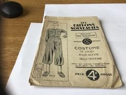 Les Patrons Nouveautés Nouveauté Paris Costume De Sport Pour Homme Taille Moyenne - Patterns