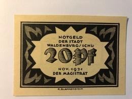 Allemagne Notgeld Waldenburg 20 Pfennig - [ 3] 1918-1933 : République De Weimar