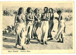 DONNE -  AFRICA - COLONIE - CARTOLINA ORIGINALE NON VIAGGIATA - Afrique