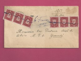 Lettre Locale De 1948 - YT Taxe N° 28 En 2 Bandes De 3 - Cameroun (1915-1959)