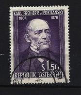 ÖSTERREICH - Mi-Nr. 997 - 150. Geburtstag Von Karl Freiherr Von Rokitansky Gestempelt - 1945-.... 2. Republik