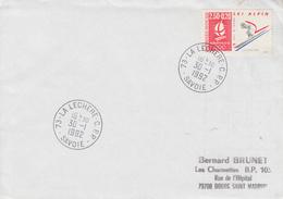 Enveloppe  FRANCE    JEUX  OLYMPIQUES  D'  HIVER   ALBERTVILLE   Oblitération   LA   LECHERE   C.P.P   1992 - Invierno 1992: Albertville