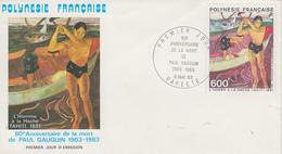 Enveloppe  FDC  1er Jour   POLYNESIE   Oeuvre  De   GAUGUIN    1983 - FDC