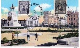 PERU LIMA PARQUE SAN MARTIN POSTED 1926 STAMPS (2) - Peru