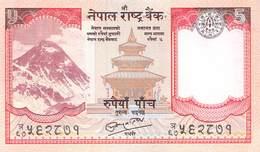 5 Rupies Nepal UNC - Nepal