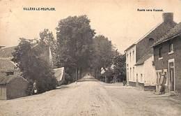 Villers Le Peuplier - Route Vers Hannut (petite Animation, AHH 1908) - Hannut