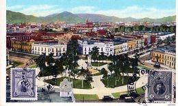 PERU LIMA PLAZA BOLOGNESI  POSTED 1926 STAMPS (3) - Peru