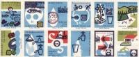 Boites D'allumettes-etiquettes,matchbox Labels,Czechoslovakia 1966,Santé,fish,conservation De L'eau,Water Conservation - Boites D'allumettes - Etiquettes