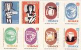Boites D'allumettes-etiquettes,match Labels,Czechoslovakia 1977,glass Jars-Verreries Kavalier Simax - Boites D'allumettes - Etiquettes