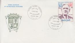Enveloppe  FDC   1er  Jour    T.A.A.F   Général  DE  GAULLE     ALFRED   FAURE    1980 - FDC