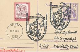 Ganzsache Wien Bludenz Steiermark 1983 Reiterpost - 1945-.... 2a Repubblica