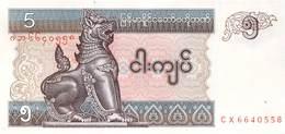 5 Kyatts Myanmar 1997 - Myanmar