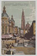 Anvers Cathedrale Et Canal Au Sucre - Antwerpen