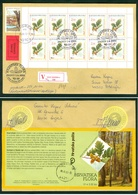 Croatia 2002 FDC Flora Oak Booklet Kind Quercus Petraea Wood Valuable Letter Cover - Croatia
