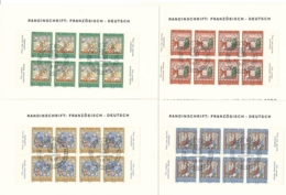 1967 Pro Patria Viererblöcke Mit TABS Deutsch Und Französisch - Pro Patria