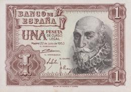 Espagne / 1 Peseta / 1953 / P-144(a) / UNC - [ 3] 1936-1975 : Régence De Franco