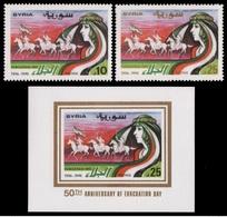 SIRIA 1996 - CABALLOS - CHEVAUX - HORSES - YVERT Nº 1057-1058 + BF 52** - Syria