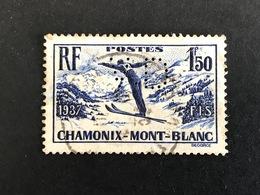 FRANCE V N° 334 1938 V.D 21Indice 3 Perforé Perforés Perfins Perfin !! Superbe - Frankreich