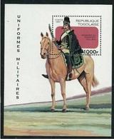 TOGO 1997 - CABALLOS - CHEVAUX - HORSES - UNIFORMES MILITARES - YVERT Nº BF 315** - Militaria