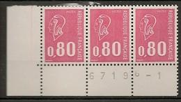 FRANCE 1974 TIMBRES 1816 TONTE TRES ROSE  MARIANNE DE BEQUET TYPE NUMERO DE FEUILLE 67196 - 1 - Variétés Et Curiosités