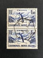 FRANCE C Paire N° 334 1937 C.L 228 Indice 2 Perforé Perforés Perfins Perfin Superbe  !! - Frankreich