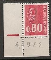 FRANCE 1974 TIMBRES 1816 MARIANNE DE BEQUET NUMERO FEUILLE 43973 - Variétés Et Curiosités
