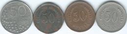 Finland - 50 Penniä - 1923 (KM26) 1942 (KM26a) 1943 - Iron Coin (KM26b) & 1993 (KM66) - Finland