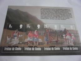 Miniature Sheet Perf Wool Production - Tristan Da Cunha