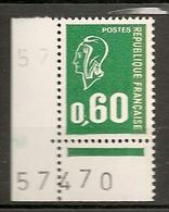 FRANCE 1974 TIMBRES 1814 MARIANNE DE BEQUET NUMERO FEUILLE 57470 - Variétés Et Curiosités