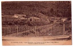 4632 - Sospel ( A.M. ) - Ligne Nice-Coni - Le Tunnel Du Col De Braus ( Travaux Et Atelers ) - N°19 - J.M. Combrier - - Autres Communes