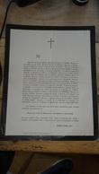 Faire Part De Décés Charles Hippolyte JACOBE De NAUROIS En 1872 à TOULOUSE - Obituary Notices