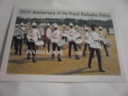 PoMiniature Sheet Perf 150th Anniversary Barbados Police - Barbados (1966-...)