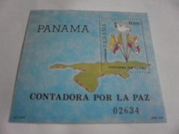 Miniature Sheet Perf Contadora Por La Paz Panama - Panama