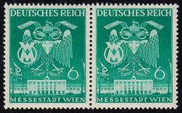 769I Wiener Messe 6 Pf Im Paar Mit PLF I Strich Durch 6, Feld 4, ** - Abarten
