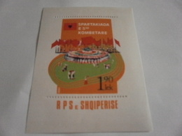 Miniature Sheet Perf National Celebration - Albania