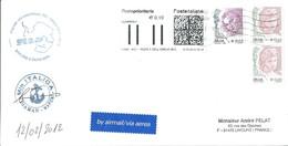 Lettre Italie De 2012 Avec Cachet Premier Raid Scientifique DC - Vostok 2011-2012 - Research Programs