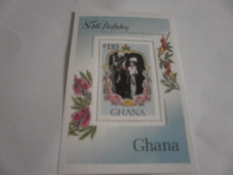 Miniature Sheet Perf 85th Birthday Of Queen Mother - Ghana (1957-...)