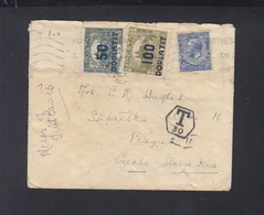 UK Cover To Prague Tax To Czechoslovakia Tax - Cecoslovacchia