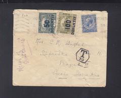 UK Cover To Prague Tax To Czechoslovakia Tax - Tschechoslowakei/CSSR