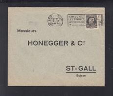 Belgien Brief 1925 Bruxelles Nach St. Gall - Belgien