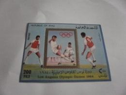 Miniature Sheet Perf Los Angeles 1984 Olympics Football - Iraq