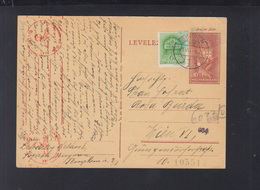 Hungary Stationery Uprated 1941 Sopron To Vienna - Hungary