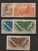 Océanie - 1942-44 - N°Yv. 150 à 154 - Série Complète - Neuf Luxe ** / MNH / Postfrisch - Oceania (1892-1958)