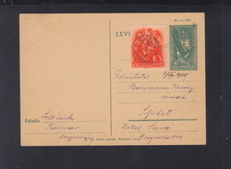 Hungary Stationery Uprated 1938 Szasvar To Split - Hungary