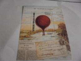 Miniature Sheet Perf 200th Anniversary Balloon Flight - Congo - Brazzaville