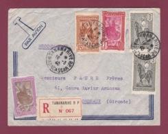 200519 - MADAGASCAR - Lettre Recommandée Par Avion Pour La France Cachet TANANARIVE RP 1940 - Lettres & Documents